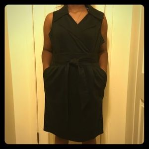 Ashley Stewart self-belted halter dress.